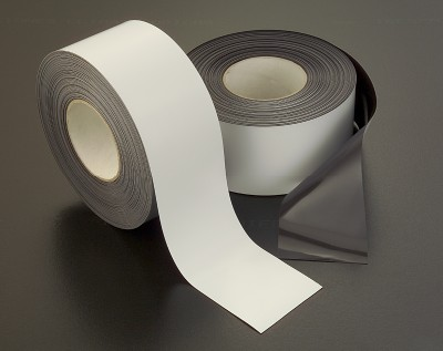 Rol magneetband 80 mm wit