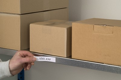 Rol magnetische etiketten 20 x 100 mm wit
